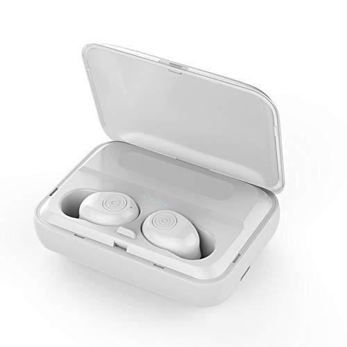 Alician F9 TWS Bluetooth Earphones V5.0 Wireless Headphone HiFi Earbuds Stereo Bass Headset with Mic White
