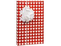 Red Heart Pattern Gift Wrapping Roll 24