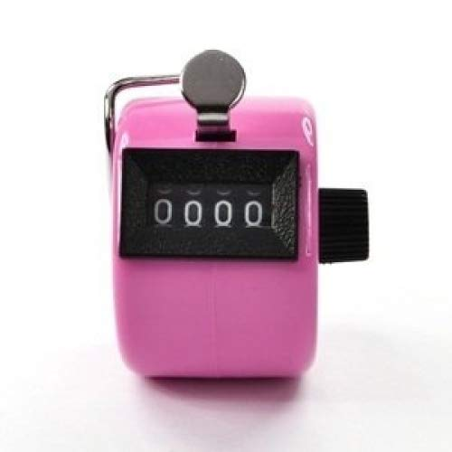 Bluecell Pink Color Handheld Tally Counter 4 Digit Display for Lap/Sport/Coach/School/Event by Generic