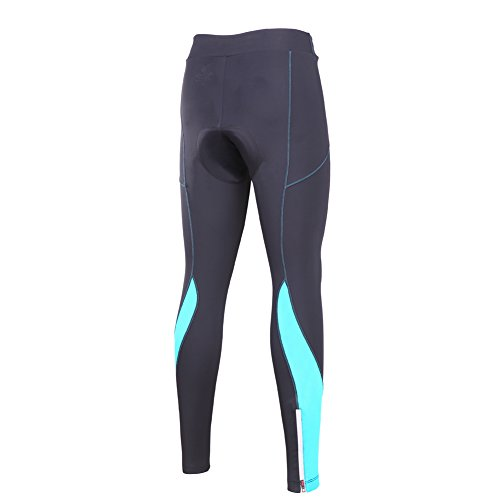 beroy Women 3D Padded Cycling Pants with Adjust Drawstring,Ladies Compression Tights Bike Pants(S Blue) by beroy (Image #4)