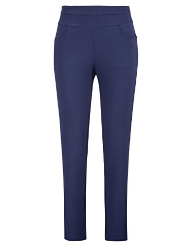 Navy Pants - Kate Kasin Women's Slim Fit Pencil Pants Ankle Pants for Work Office with Pocket Navy, L