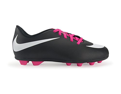 Nike Junior Bravata Firm-Ground Soccer Cleat Black/Pink/White Size 4.5 M US