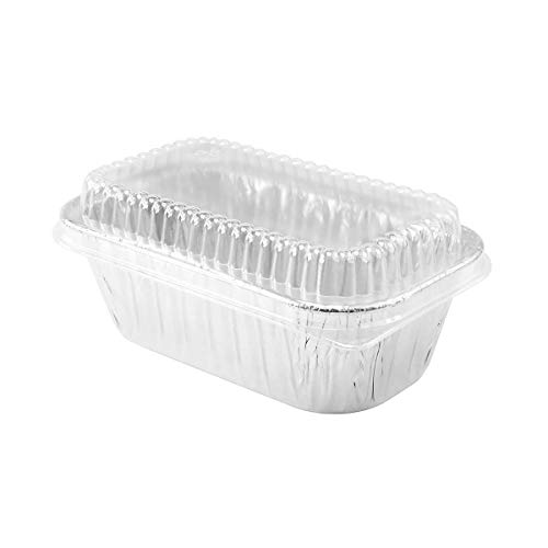 Disposable Pans Loaf (Disposable Aluminum 1 lb. Mini Loaf Pans with Clear Dome Lids- Pack of 20 pans & 20 Lids)