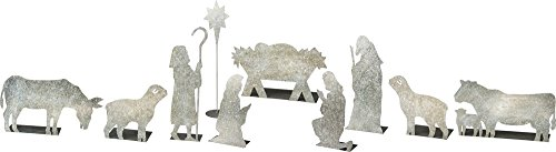 (Primitives by Kathy Christmas 10-Piece Tin Nativity Scene)