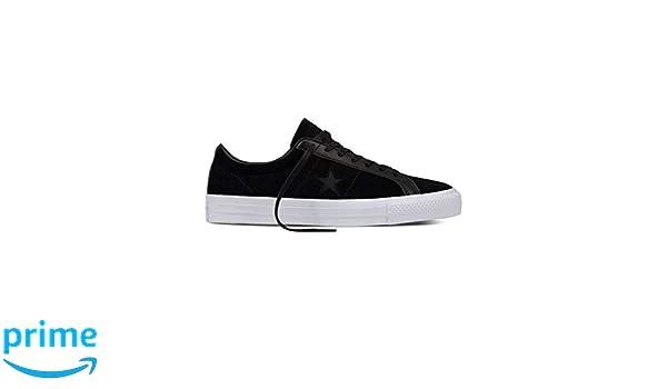 Amazon.com  Converse One Star Pro Ox Rub Off Leather Black White Black  Men s Skate Shoes  Shoes 90b968122