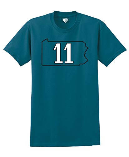 (Football Players Number T-Shirt #11 Wentz, L)