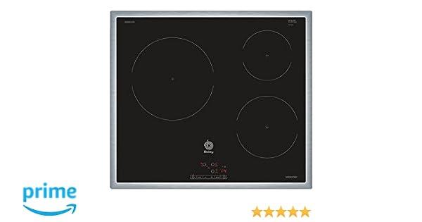 Balay 3EB864XR hobs Negro Integrado Con - Placa (Negro, Integrado, Con placa de inducción, Vidrio, 1400 W, 15 cm)