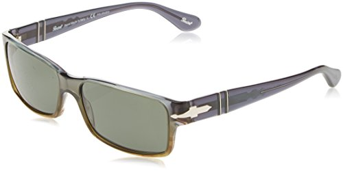 Persol 2803S 101258 Transparent Grey Green Gradient 2803S Rectangle Sunglasses