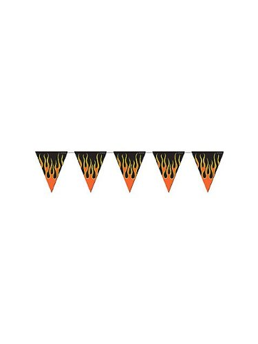 Flame Pennant Banner Party Accessory (1 count) (1/Pkg), Health Care Stuffs