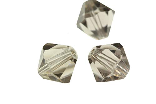 50pcs 10mm Adabele Austrian Bicone Crystal Beads Smoked Quartz Compatible with Swarovski Crystals Preciosa 5301/5328 SSB1021