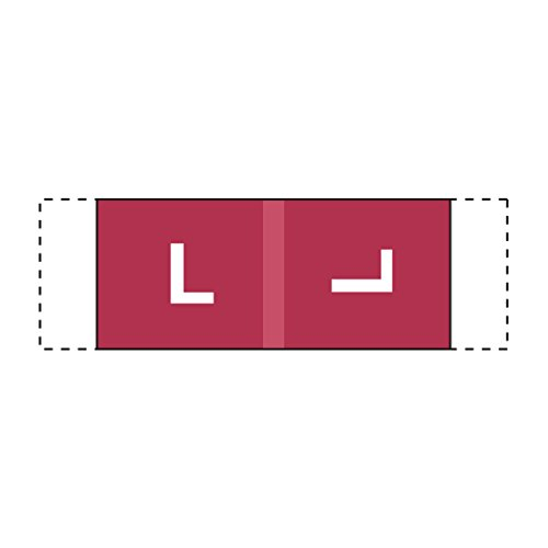 ed Labels- Letter L, Dark Red, Col'R'Tab 11950 Compatible (Polylaminated, 500/Roll) (Storage Color Code)
