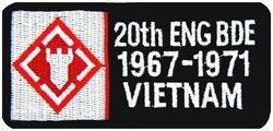 HMC U.S. Army 20th Engineer Brigade Vietnam Patch