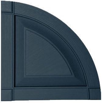 Mid-America 00 97 0003 002 Black 14 3//4 Raised Panel Shutter Quarter Round Arch Top Pair