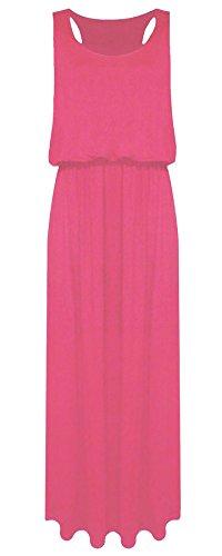 Maxi Ball 21FASHION Fancy Dress Ladies Baloon Coral Long Jersey Sleeveless Racer Toga Maxi Womens Puff Back O16wqrzUOt