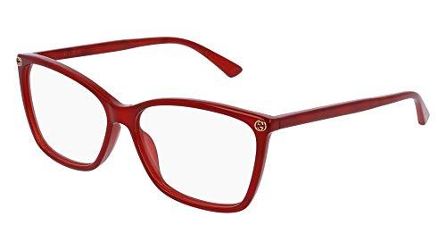 (Gucci GG0025O Optical Frame 004 Red 56 mm)