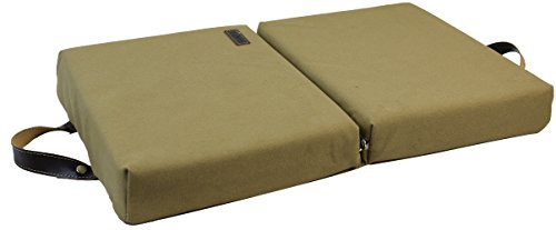 Garden Kneeling Pad Extra Thick Large Bath Pads Portable Water Resistant High Density Memory Foam Cushion Balance Pads Slow Recovery Kneeler with Shock Absorbing EVA Foam-Khaki