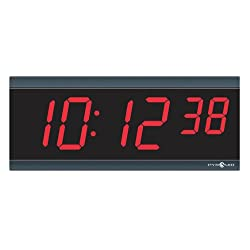 Pyramid Time Systems 9D26BR TimeTrax Sync 2.5in x 6 Digit Red LED Wireless Digital Wall Clock - Digital