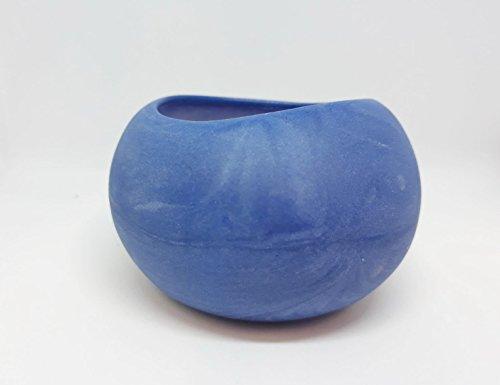Blue Ceramic Bowl, Handmade Design, Jewelry Dish, Necklaces