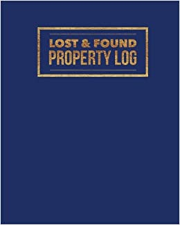amazon com lost found property log navy organizer template for