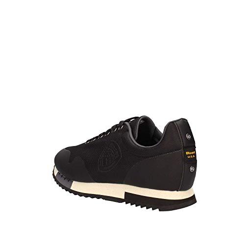 Tela MES Uomo Blauer Blu Scarpe 8FDETROIT01 BLACK Sneakers CqBBTt