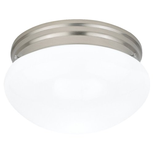 Sea Gull Lighting 5328-962 Flush Mount with Smooth White Glass Shades, Brushed Nickel Finish (Light 5328)