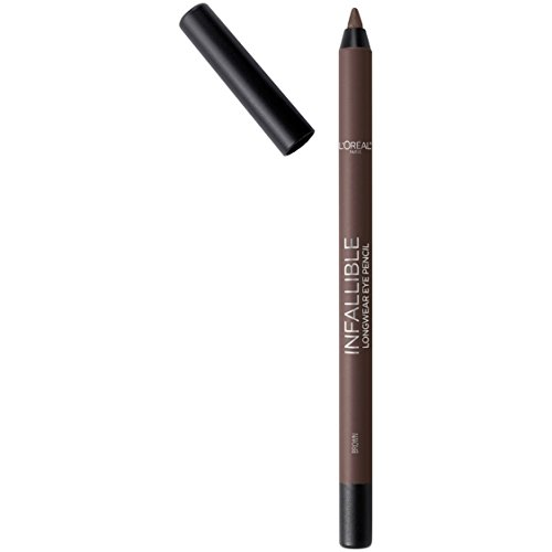 LOreal Paris Makeup Infallible Pro-Last Pencil Eyeliner, Waterproof & Smudge-Resistant, Glides on Easily to Create any Look, Brown, 0.042 oz.
