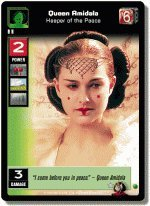 STAR WARS YOUNG JEDI CCG BATTLE OF NABOO FOIL QUEEN AMIDALA KEEPER OF THE PEACE 3FSR