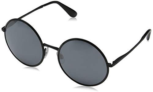 Dolce & Gabbana DG 2155 11066G Black Metal Round Sunglasses Silver Mirror ()