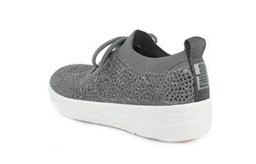 Fitflop F Crystal Charcoal Sneakers sporty Uberknit OUq1w6qSR