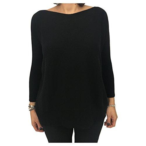 IN IN IN MADE mod nero 100 maglia donna donna donna AS092MOD cashmere ITALY LACO w81A7qx