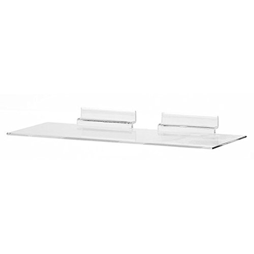 KC Store Fixtures A02102 Acrylic Slatwall Shoe Shelf, 4'' D x 10'' W, Molded (Pack of 100) by KCF