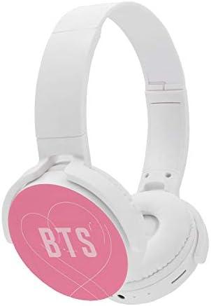 Fanstown BTS Bangtan Boys Kpop Headphone Earphone Heatset Bluetooth Wireless Hi-Fi Stereo Wired Wireless Map of The Soul Persona with Pendant