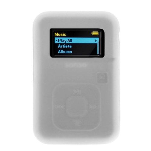 BIRUGEAR Clear White Rubber Soft Silicone Skin Cover Case for SanDisk Sansa Clip Plus 4GB 8GB