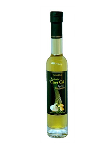 Napa Valley Olive Oil Garlic Mushroom Infused Extra Virgin For Gourmet Cooking, Salad Dressing, Gift Baskets, Mediterranean Diet, Vegetarian Recipes, Health Food Or A Unique Gluten Free Gift