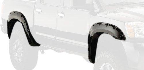 Rear Nissan Fender - Bushwacker 70014-02 Nissan Pocket Style Fender Flare - Rear Pair