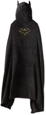 Batman Big Boys' Black Hooded Wrap Blanket 21BM074