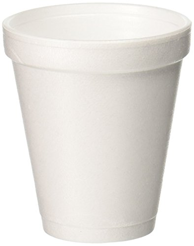 Dart 6J6 6 oz Foam Cup, 6 Series Lids (Case of 1000)