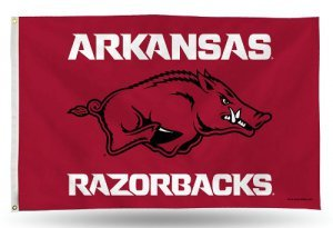 Banner Arkansas Flag Razorbacks (Rico Industries NCAA Arkansas Razorbacks 3-Foot by 5-Foot Single Sided Banner Flag with Grommets)