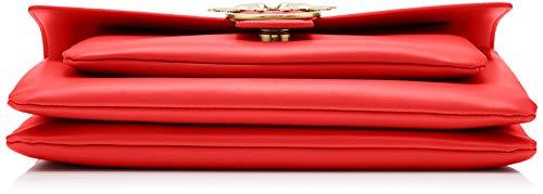 Sacs borchiette Épaule Portés Rouge rosso Love Big Cinese Seta 1 Pinko Tracolla rosso Vitello Simply vgn8w1