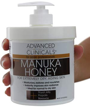 Honey Body Cream - Advanced Clinicals Manuka Honey Cream for Extremely Dry, Aging Skin For Face, Neck, Hands, and Body. Spa Size 16oz. (16oz)