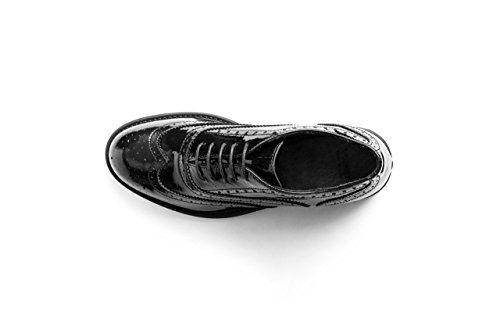 mujer FRAU cordones VERNICE de Piel Zapatos de para NERO TYrnqw1HY