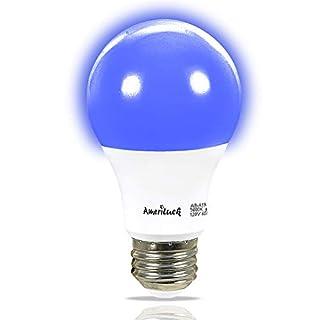AmeriLuck Cobalt Blue Light A19 LED Bulbs, 60W Equivalent (7W), E26 Medium Base, 1 Bulb