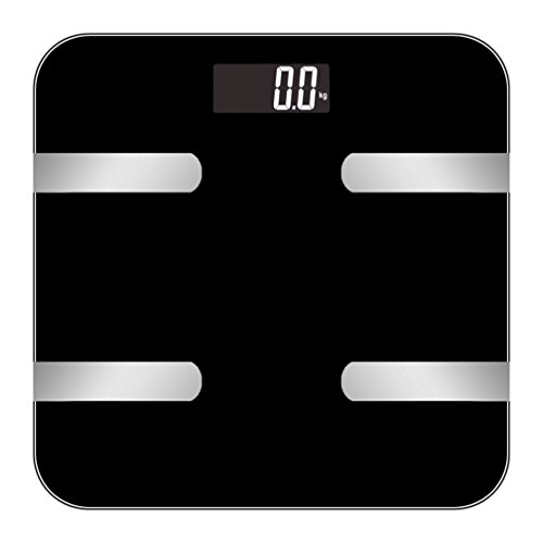 LUOYIMAN Digital Body Scale Smart Bluetooth Wireless Body Scale 9 Functions High Accuracy (Black)