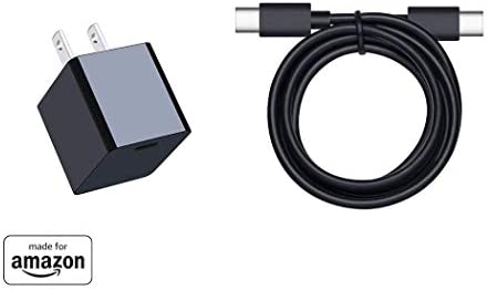 15W Type-C Wall Charger with USB-C Cable for Fire HD 10 and All-new Fire HD 8 pill