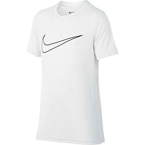 Ready Youth T-shirt - NIKE Boys' Short-Sleeve Training Shirt, White, Large