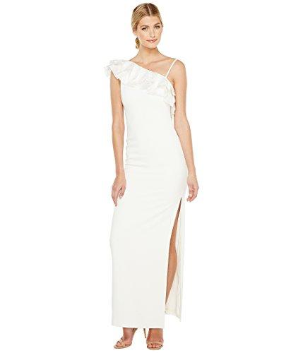 に付ける胃否定する[バッジェリーミシュカ] Badgley Mischka レディース Asymmetrical Lace Trimmed Gown ドレス Light Ivory 10 [並行輸入品]