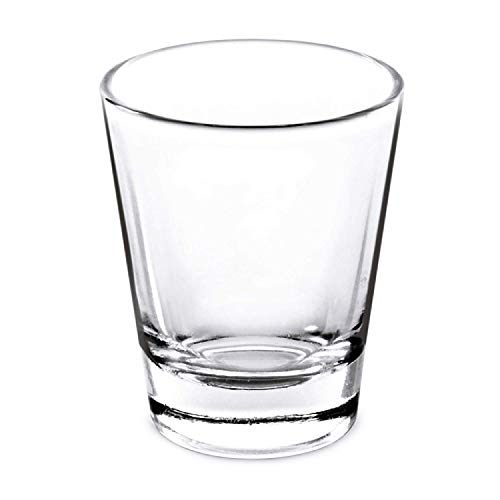 Shot Glasses Whiskey Glass Set - Clear Heavy Base 1.5 Oz - 4 Pack