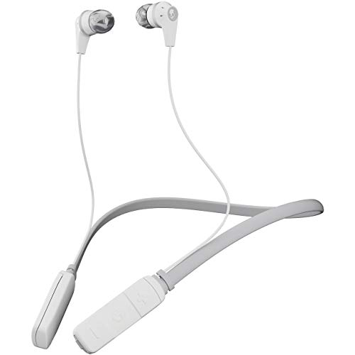 - Skullcandy Ink'd Bluetooth Wireless Earbuds with Microphone, Noise Isolating Supreme Sound, 8-Hour Rechargeable Battery, Lightweight with Flexible Collar, White