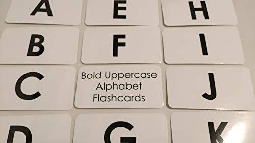 Bold Text Laminated Uppercase Alphabet Flashcards