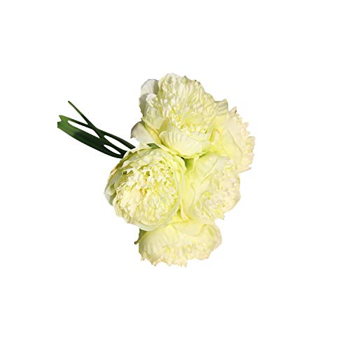 Artificial Silk Fake Flowers Peony Floral Wedding Bouquet Bridal Hydrangea Decor Flowers Home Decoration,3,C